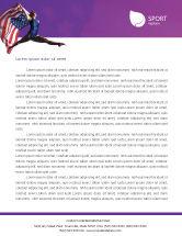 Sports: American Sports Letterhead Template #01877