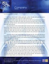 Medical: Caduceus In Deep Blue Colors Letterhead Template #01881