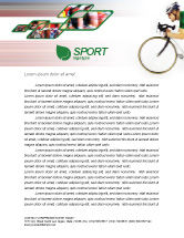 Sports: Tour de France Letterhead Template #01895