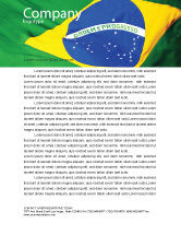 Abstract/Textures: Brazilian Flag Letterhead Template #01915