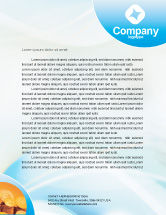 Financial/Accounting: Piggy Bank And Coins Letterhead Template #01932