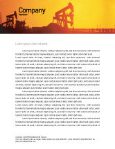 Utilities/Industrial: Oil Well Letterhead Template #02018