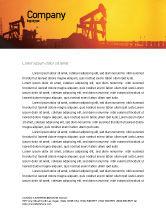 Utilities/Industrial: Öl gut Briefkopf Vorlage #02018
