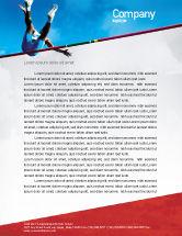 Sports: High Jump Letterhead Template #02020