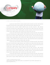 Global: Kid and World Letterhead Template #02045