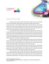 Technology, Science & Computers: Internet Space Letterhead Template #02053