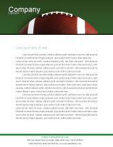 Sports: Ball Game Letterhead Template #02110