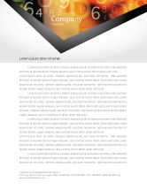 Technology, Science & Computers: Abstract Digital Letterhead Template #02130