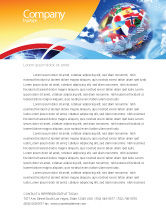 Global: World Flags Letterhead Template #02153
