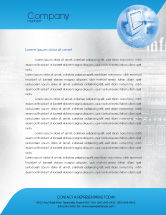 Technology, Science & Computers: Digital Computing Technology Letterhead Template #02160