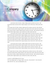Business: Clock Face Letterhead Template #02210
