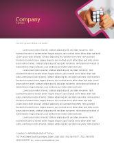 Business Concepts: Puzzle Rubik's Cube Letterhead Template #02213