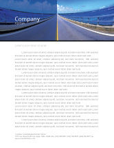 Construction: Highway In A Blue Distance Letterhead Template #02214