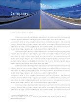 Construction: Templat Kop Surat Jalan Raya Dengan Jarak Yang Biru #02214