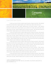 Agriculture and Animals: Grain Letterhead Template #02248