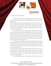 Art & Entertainment: Cinema Hall Letterhead Template #02291