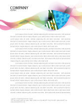 Careers/Industry: Beach Accessories Letterhead Template #02293