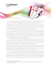 Careers/Industry: Playing Cards Letterhead Template #02295
