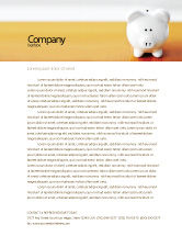 Financial/Accounting: Save Money Letterhead Template #02316