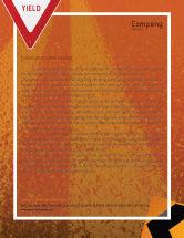 Construction: Templat Kop Surat Terowongan Pada Latar Belakang Oranye #02320