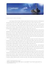Utilities/Industrial: Drilling Platform Letterhead Template #02356