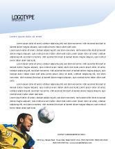 Sports: Head In Soccer Letterhead Template #02365