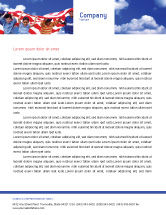 America: Children Of The USA Letterhead Template #02377