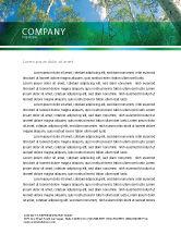 Nature & Environment: Forest Letterhead Template #02415
