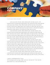 Business Concepts: Pieces of Puzzle Letterhead Template #02430