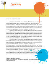 Utilities/Industrial: Yellow Paint Letterhead Template #02440