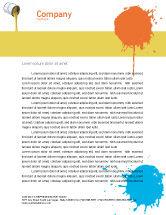 Utilities/Industrial: Gele Verf Briefpapier Template #02440