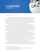 Business: Gray Puzzle In A Blue Crescent Letterhead Template #02451