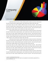 Financial/Accounting: Pie Chart Letterhead Template #02458
