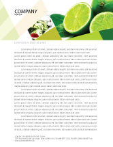 Food & Beverage: Lime Letterhead Template #02460