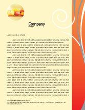 Food & Beverage: Juice Letterhead Template #02489