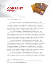 Financial/Accounting: Plastic Credit Card Letterhead Template #02491