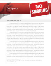 Medical: No Smoking Letterhead Template #02493