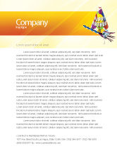 Holiday/Special Occasion: Birthday Letterhead Template #02513