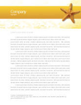 Agriculture and Animals: Star Fish Letterhead Template #02556