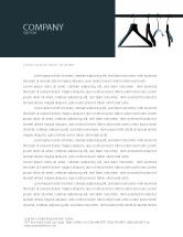 Business Concepts: Clothes Hangers Letterhead Template #02565
