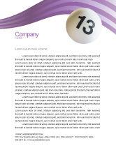Art & Entertainment: Lotto Balls Letterhead Template #02574