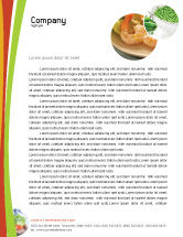 Food & Beverage: Vegetarian Food Letterhead Template #02582