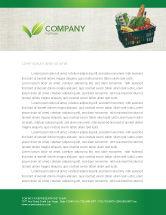 Careers/Industry: Market Basket Letterhead Template #02583