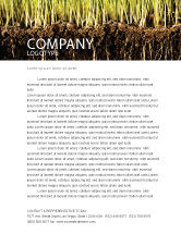 Nature & Environment: Soil Letterhead Template #02607