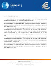 Financial/Accounting: European Union Letterhead Template #02642