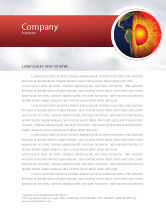 Technology, Science & Computers: Earth Core Letterhead Template #02665