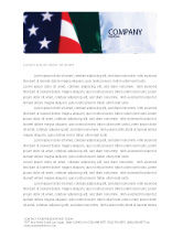 Flags/International: Mexico and USA Letterhead Template #02668