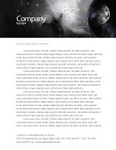 Nature & Environment: Moon Letterhead Template #02670