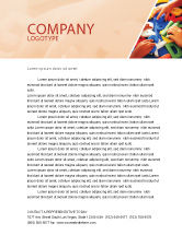 Education & Training: Alphabet Game Letterhead Template #02675