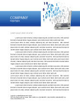 Technology, Science & Computers: Digits From Laptop Letterhead Template #02725